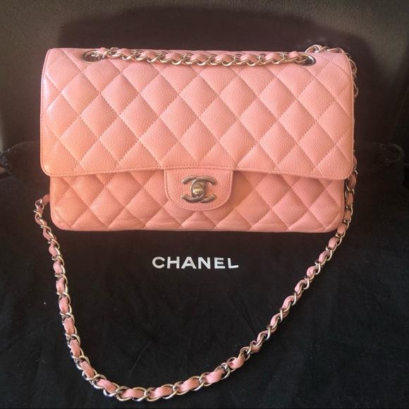 c756ca9e0a41 CHANEL Bags | Medium Caviar Classic Pink Shoulder Bag | Poshmark